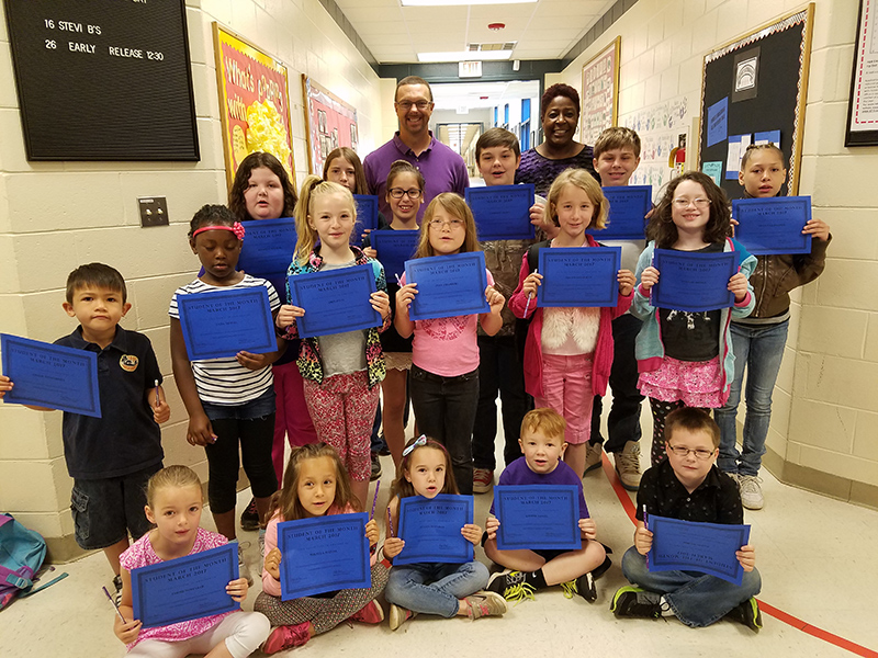 New Georgia Elementary March Students Of The Month